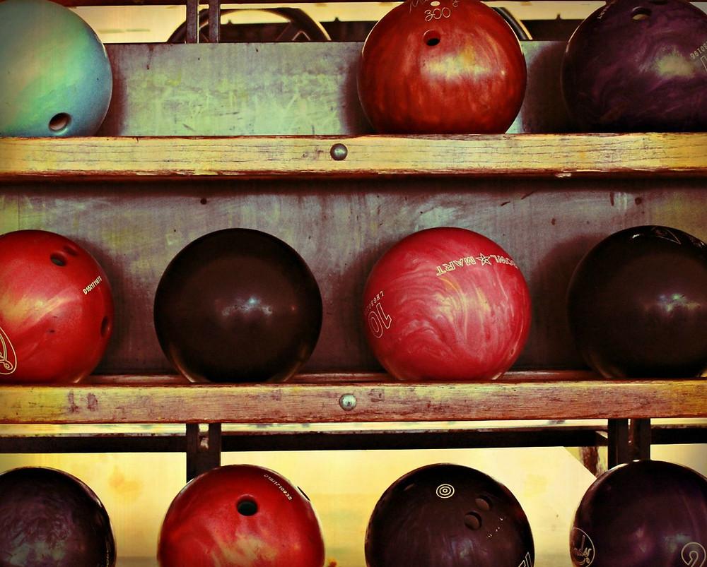 Bowling Balls - Urban Natural Designs handcrafted artwork