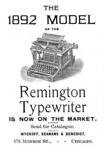 1892 Remington Typewriter Urban Natural Designs