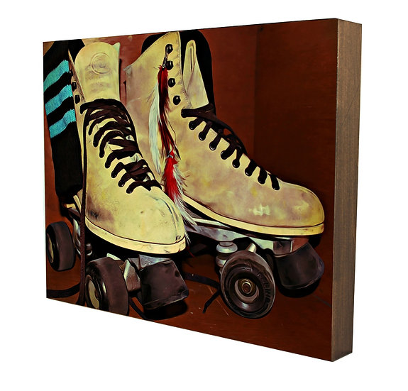 Roller Skates Handcrafted Artwork