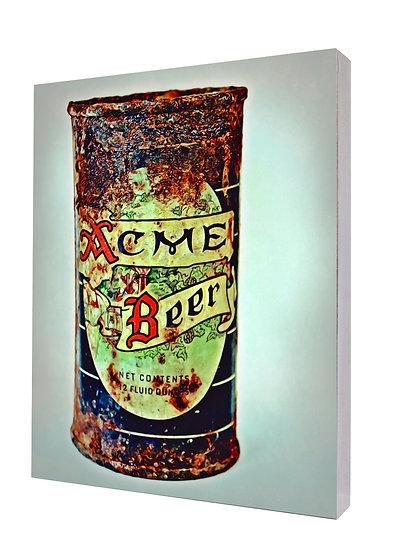 Vintage Acme Beer (1940s) Handcrafted Artwork