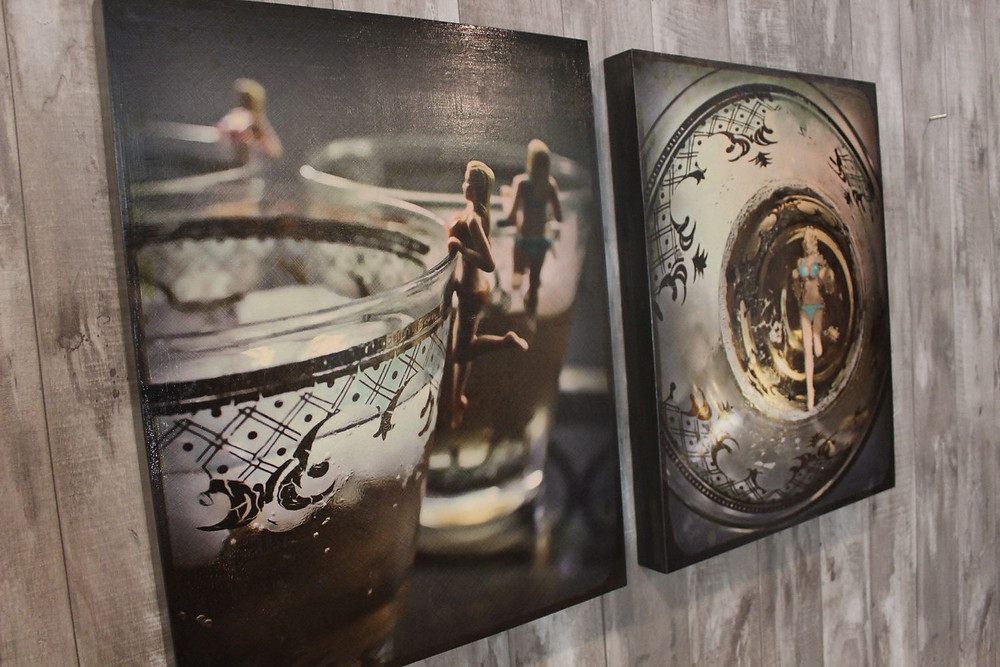 Cocktail Swim collection - Urban Natural Designs handcrafted artwork