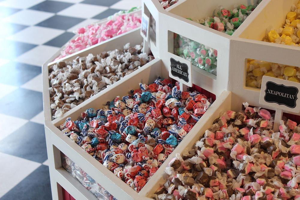 candy store - Urban Natural Designs blog self-discipline is key to well-being