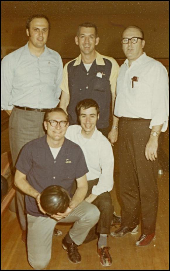 Clairol's Burbank, CA warehouse bowling team, c. late-60's