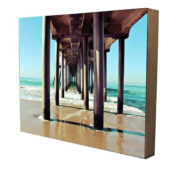 Huntington Beach Pier Handcrafted Artwork