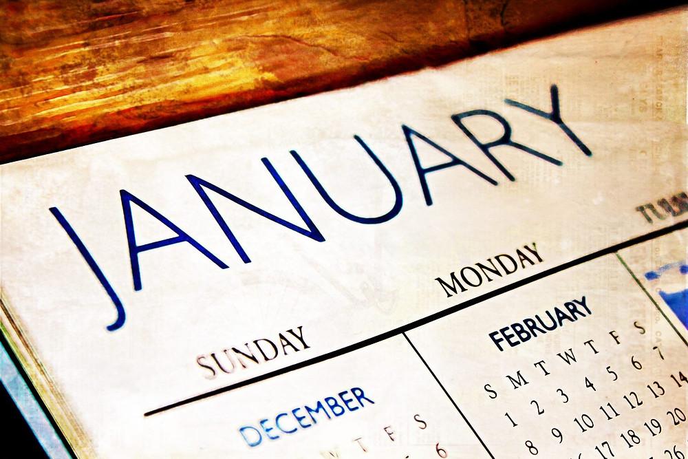 calendar January - Urban Natural Designs blog new year is perfect fresh start