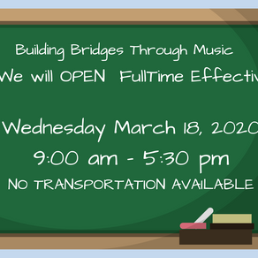 PROGRAM RESUMES WEDNESDAY, MARCH 18, 2020