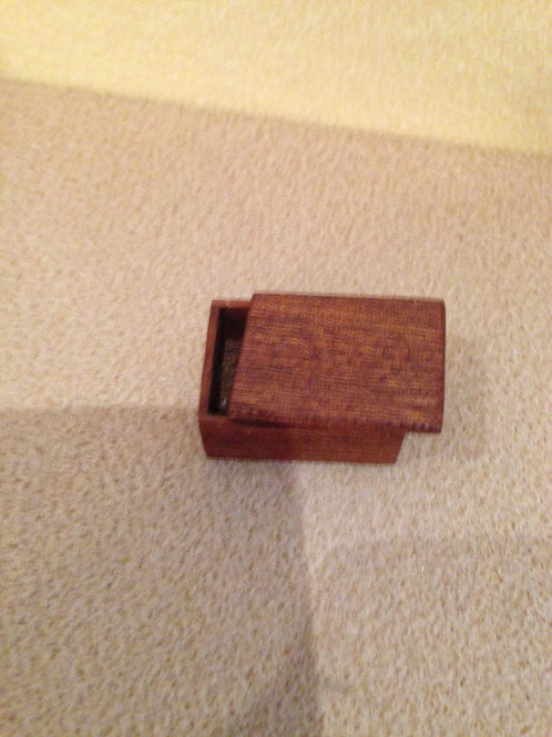Wooden lidded box.