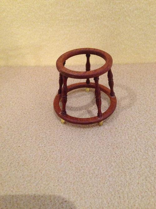 Wooden baby walker frame.