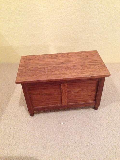 Wooden blanket box or chest.