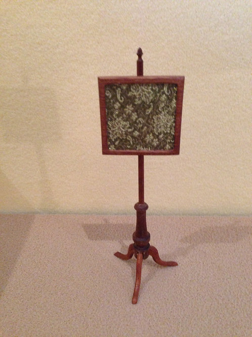 Square Pole Fire Screen.Mahogany