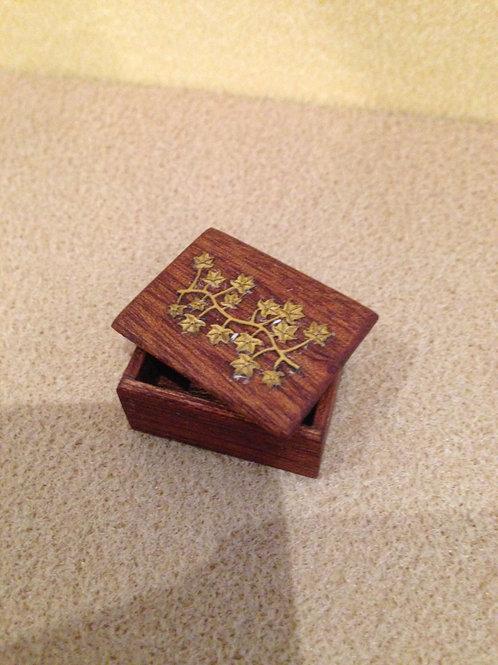 Brass lidded wooden box