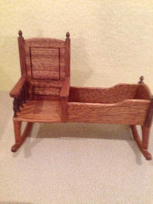 Tudor rocking crib chair.