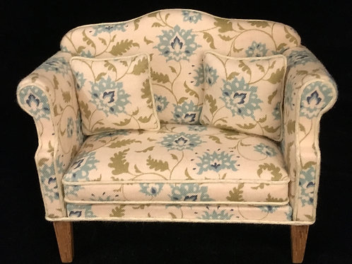 Sofa made by Jill Lucas. 1/12th Dolls house.