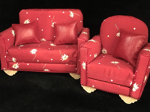 Dolls house 1/12th sofa /settee