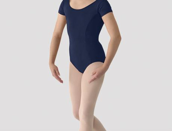 Bloch M415L Navy Short Sleeved Leotard