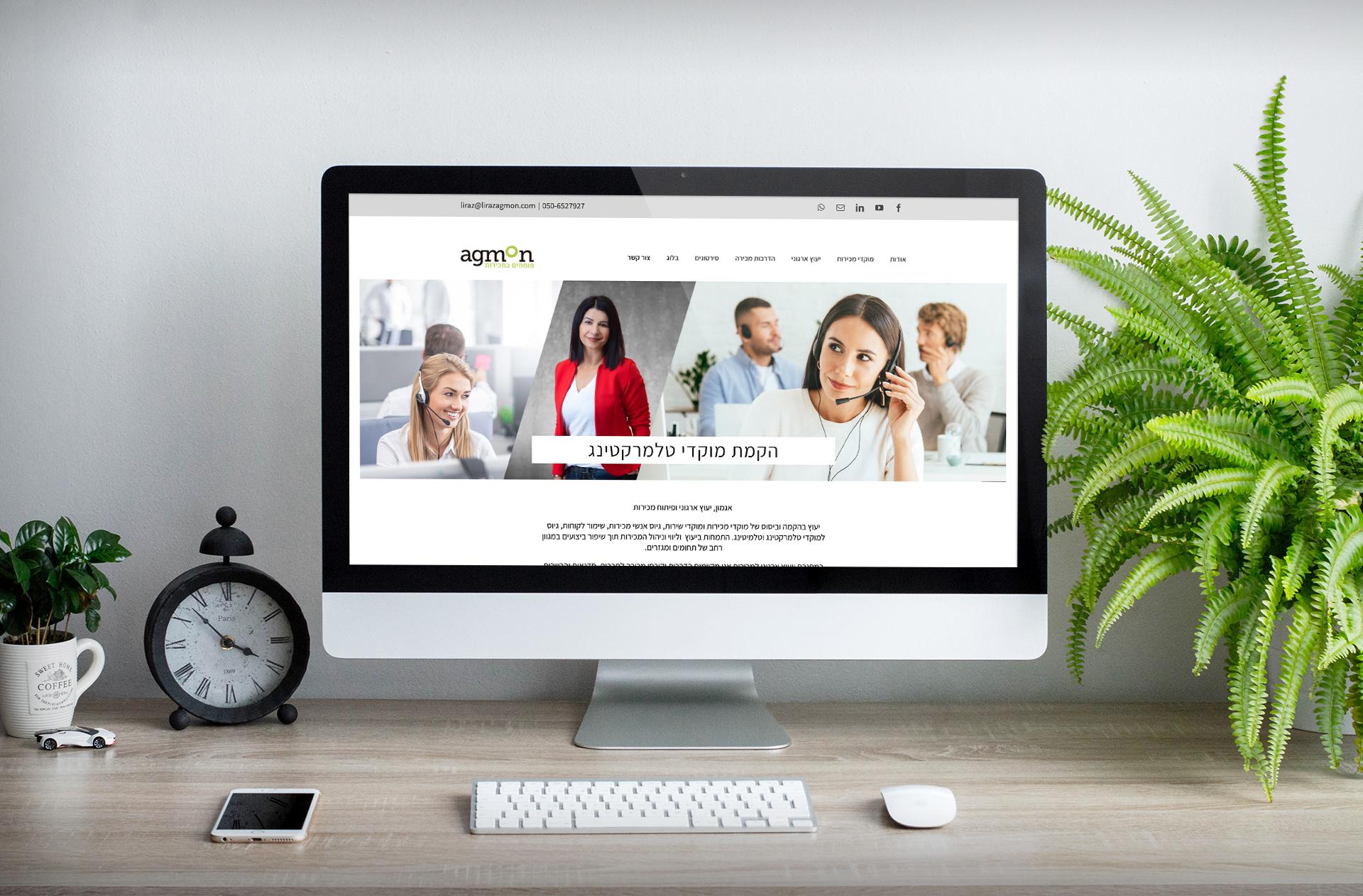 אגמון יעוץ ארגוני ומכירות . עיצוב אתרים
