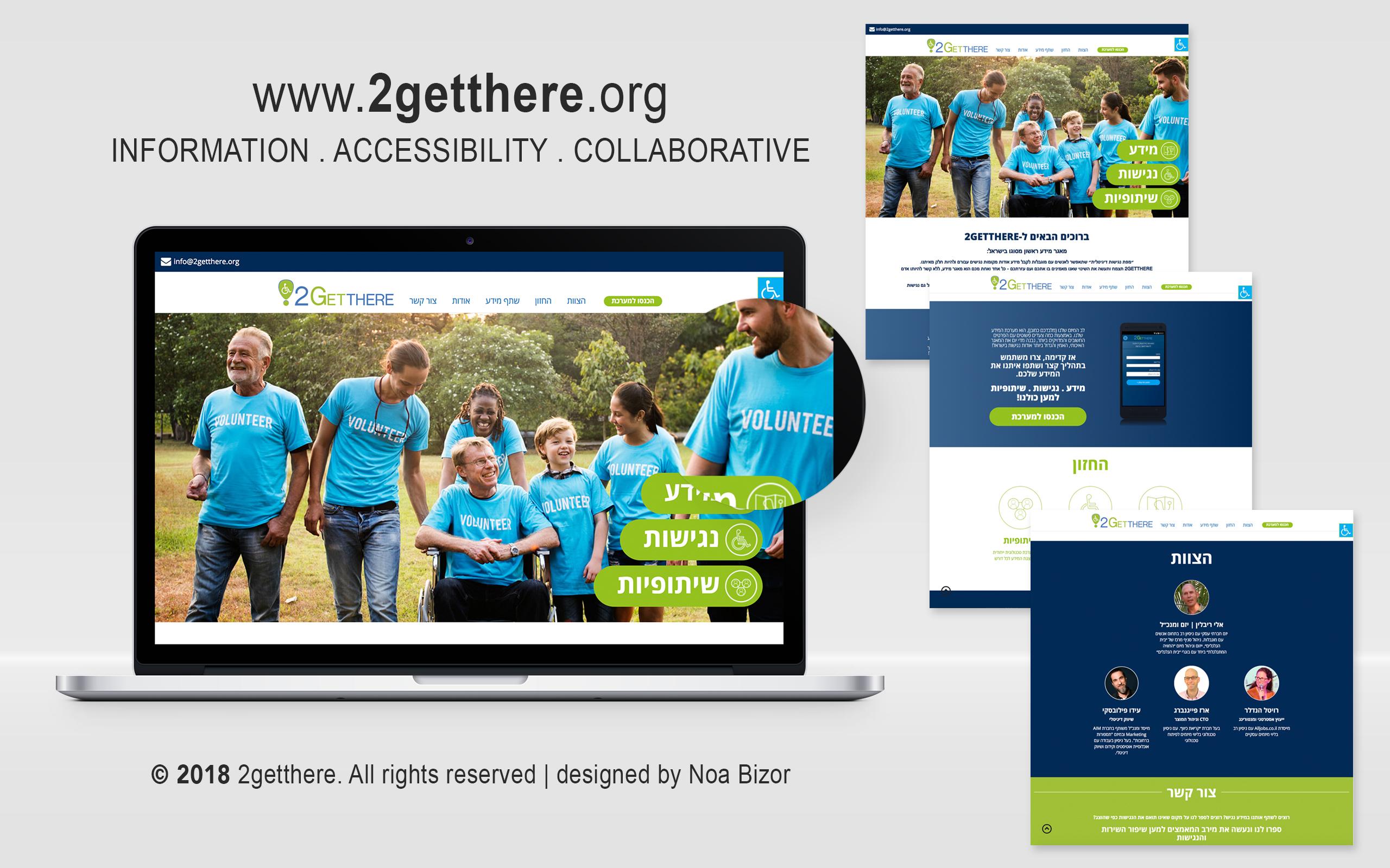 2Getthere . מיתוג ועיצוב אתרים