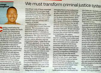 We must transform criminal justice system
