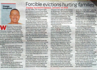 Halt forced evictions and let the Sengwer people be