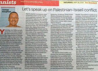 Has Government lost its moral compass on Palestinian-Israeli conflict: An Africa Day thought