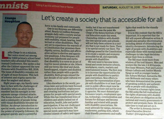Lets create an accessible and inclusive society for all abilities