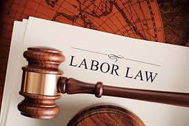 Gavel with page entitled Labor Law
