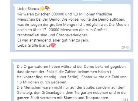 ??? Falls du mehr als nur Fragwürdiges zur Berliner Demo wissen möchtest