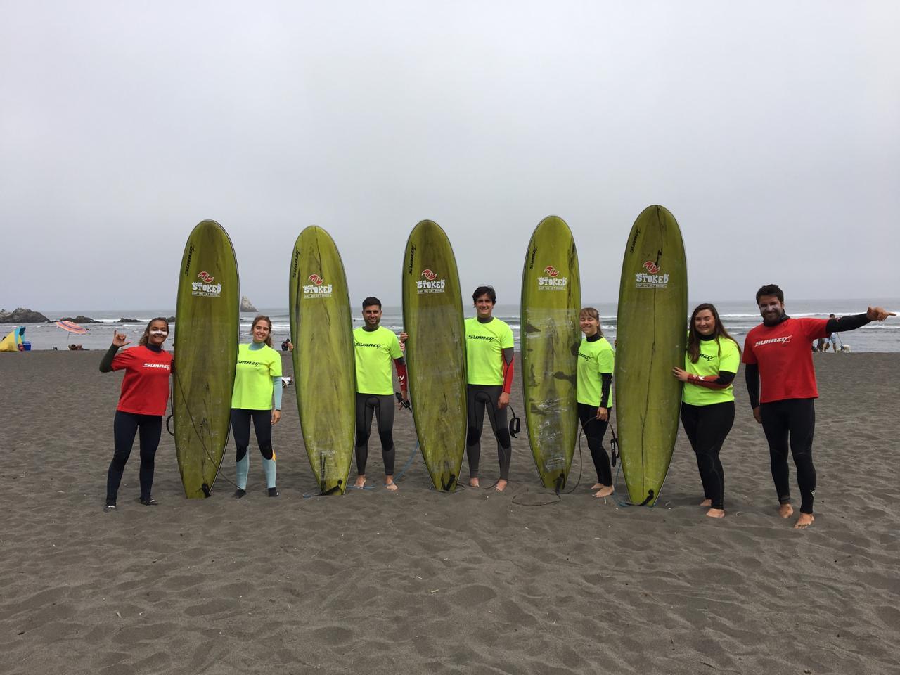 Clase grupal de Surf