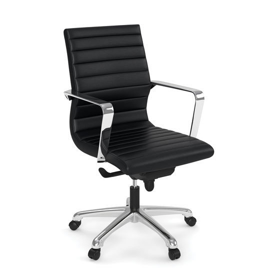 OS Executive Mid Back with Chrome Frame