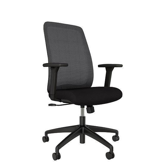 AIS Bolton Multi-Function Black High Back Task Chair