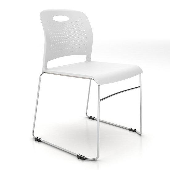 AIS Triad Stack Chair -White
