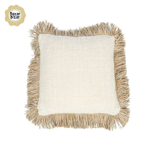 Bazar Bizar - The Saint Tropez Cushion - Natural White - M