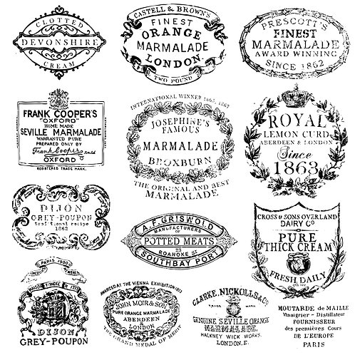 Decor Stamps 'Crockery'
