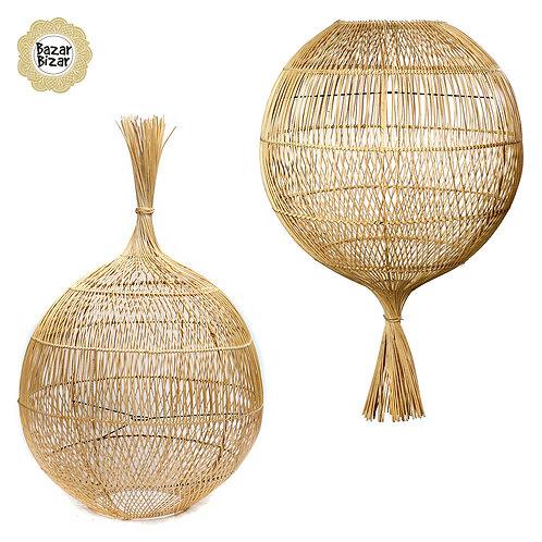 Bazar Bizar - The Rattan Wonton Floor Lamp - Pendant - Natural