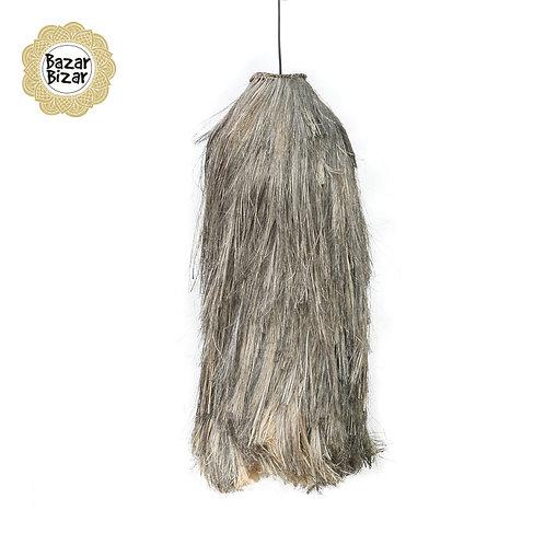 Bazar Bizar - The Abaca Cuci Pendant Lamp - Natural Black- L