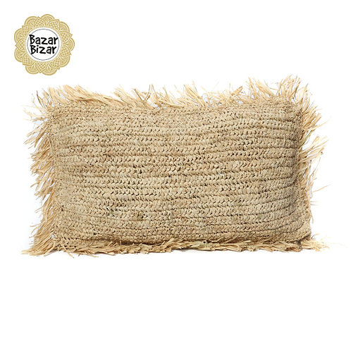 Bazar Bizar - The Raffia Cushion Rectangular - Natural
