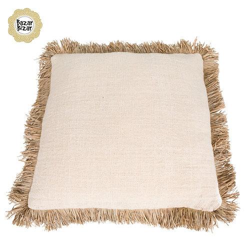Bazar Bizar - The Saint Tropez Cushion - Natural White - L