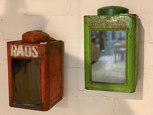 Vintage iron tins