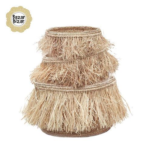 Bazar Bizar - The Raffia Bowls - Natural - SET3