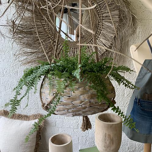 Rotan hanging basket
