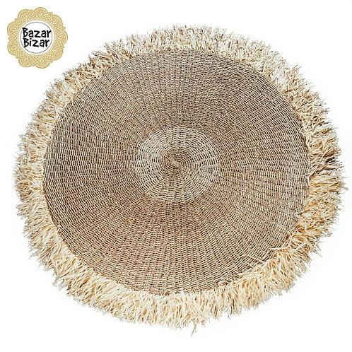 Bazar Bizar - The Raffia Fringed Carpet - Natural
