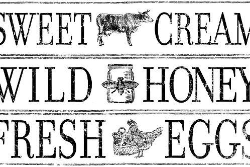 Decor Transfer 'Farm Fresh Signage'