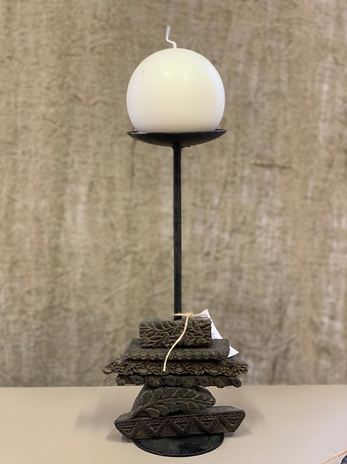 stamp candlestick