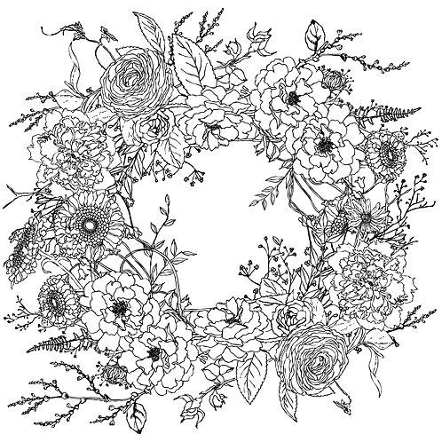 Decor Tranfer 'Winter Song Wreath'