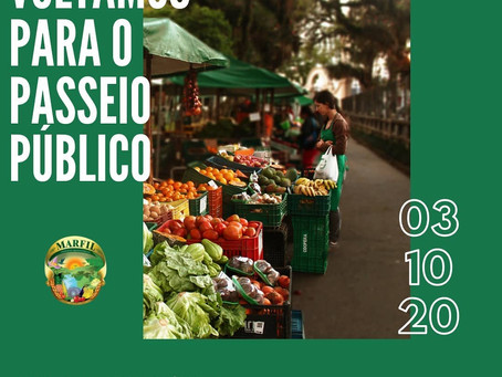 Voltamos a fazer a feira orgânica do Passeio Público de Curitiba - PR