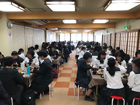 いちわ,修学旅行,団体,昼食,宮島