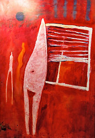 "Womb Woman,1984, Acrylic on canvas, 84"" x 62"""