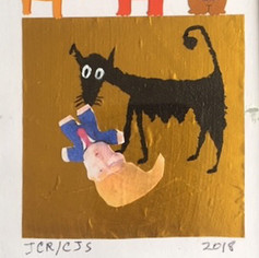 """5""""x 7"""" Mother Dog Collages"""