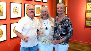 Sartwelle with friends at Redbud Gallery