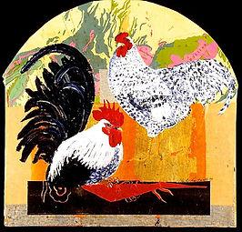 """Cocks & Cockerels & Hens, 2008, 16"""" x 20"""""""